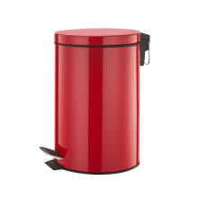 12 Litre Stainless Steel Pedal Bin Red Color